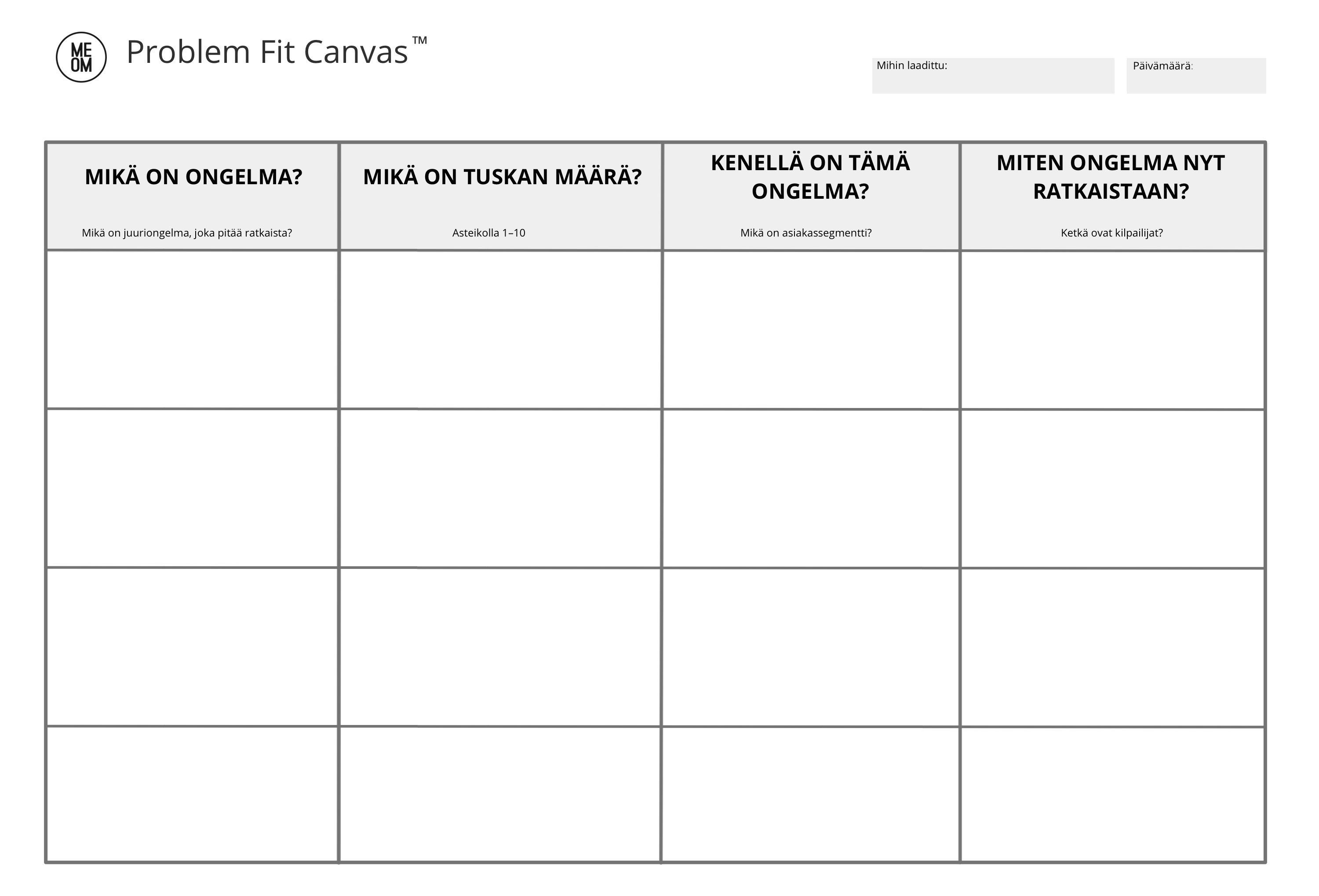 Problem Fit Canvas